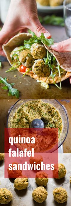 A healthier (but no less delicious) take on falafel! This quinoa falafel is baked instead of fried, and stuffed into pita loaves with creamy hummus and your favorite veggies!