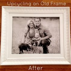 Brassy Apple: DIY Large family photo ART makeover - Before and AFTER from @whilecamdensleeps