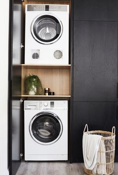 If you want to keep your place clean then use some useful laundry room storage ideas. These can make your laundry task easy and save space at the same time. Laundry Cupboard, Laundry Closet, Laundry Room Organization, Laundry In Bathroom, Laundry In Kitchen, Laundry Area, Compact Laundry, Small Laundry, Hidden Laundry Rooms