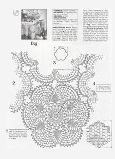 Crochet Knitting Handicraft: Crochet tablecloth