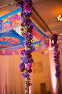 Jewish weddings are held under a chuppah...chuppahs can all be unique and never look the same #chuppah #wedding #jewish