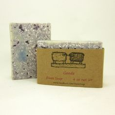 Homemade Cold Process Artisan Soap Amethyst Geode Blue Clay Soap | EweniqueEssentials - Bath & Beauty on ArtFire