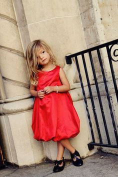 Elegant  Red Bubble  Dress by simplicitycouture on Etsy