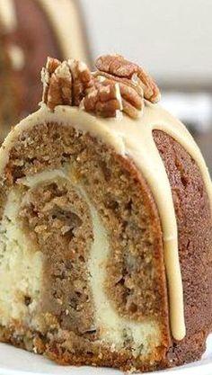 Apple-Cream Cheese Bundt Cake - A delicious apple dessert recipes! Apple Recipes, Sweet Recipes, Baking Recipes, Apple Bundt Cake Recipes, Bunt Cakes, Cupcake Cakes, Cupcakes, Just Desserts, Dessert Recipes