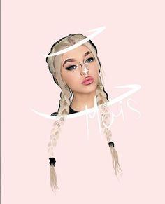 Pretty Wallpapers, Outlines, Cartoon Drawings, Art Girl, Ariana Grande, Disney Characters, Fictional Characters, Logo, Disney Princess