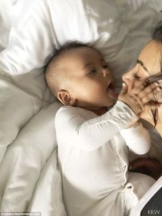Kim Kardashian kisses son Saint in sweet video on her website | Daily Mail Online