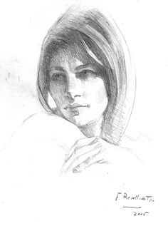 Dibujo del rostro de una mujer  Dibujos  Pinterest  Dibujo och