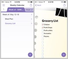 Meal Planning Template for Microsoft OneNote