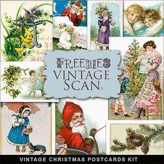 Freebies Vintage Christmas Post Cards