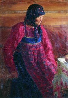 Куликов Иван Семенович (1875 - 1941) -  Старуха Дарья из Прудищ. 1908
