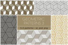 Seamless Geometric Patterns 3 by kloroform on @creativemarket
