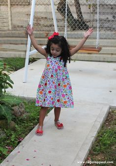 DIY - Toddler Dress - Michael Miller Fabrics - Floral - Belize