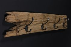 Treibholz Garderobe Hakenleiste von OLLIWOODISLAND auf DaWanda.com