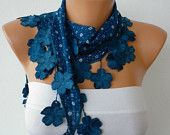 fatwoman-Lace scarves - on Etsy $13.50  May have to get one of these!