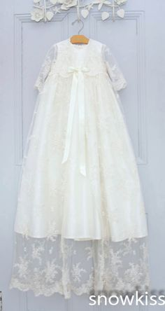 Find More Dresses Information about Two Pieces Long Sleeves Baby Girls Boys Blessing Dresses With Bonnet Heirloom Dedication Christening gowns vestido de baptizado,High Quality dresses rhinestones,China girls tennis dress Suppliers, Cheap girls dresses kohls from snowkiss on Aliexpress.com