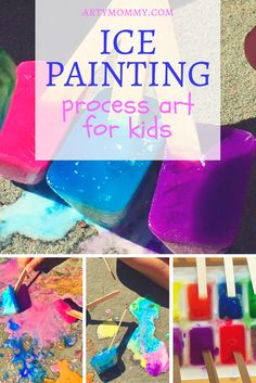 Gifts for coffee lovers [creative and inexpensive] Creative Activities, Creative Play, Craft Activities, Toddler Activities, Ice Cube Painting, Painting For Kids, Chalk Painting, Projects For Kids, Diy For Kids