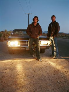 Jensen Ackles as Dean Winchester and Jared Padalecki as Sam Winchester - Supernatural Season 1 Promo