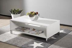 MONACO-sohvapöytä 110x60cm valkoinen