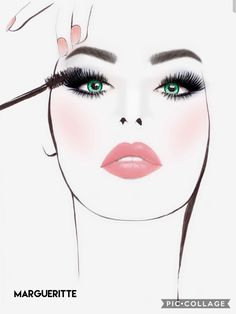 Lopes margueritte Beauty Salon Decor, Beauty Art, Fashion Illustration Face, Makeup Artist Logo, Makeup Wallpapers, Fashion Wall Art, Girl Wallpaper, Art Sketchbook, Fashion Sketches