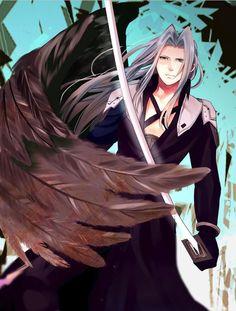Sephiroth ur eyes r so small u defeated my asian eye Final Fantasy Xv, Final Fantasy Artwork, Fantasy Series, Video Game Characters, Wattpad, Film Serie, Video Game Art, Kingdom Hearts, Anime Art
