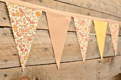 Sunset Meadow  - Vintage Bunting Banner - Free Shipping US and Canada