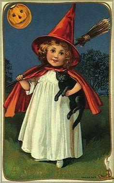 Vintage cards for Halloween @vintage Holidaycrafts.