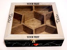 Jewellery Boxes – Gift Tea Box, Name Engraved Tea Box – a unique product by…