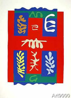 Henri Matisse - Composition a la Croix Rouge