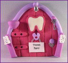 Polymer Clay Fairy Door  Girls Tooth Fairy by MistsofAzura on Etsy, £15.00