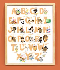 OMG, THIS IS AN ABSOLUTE MUST HAVE! SF Giants Baseball Nursery ABC (16 W x 20 H) Unframed. $45.00, via Etsy.