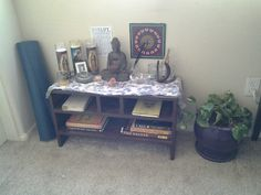 My meditation space:) simple but functional.