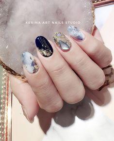 Nail art Christmas - the festive spirit on the nails. Over 70 creative ideas and tutorials - My Nails Marble Nail Art, Gel Nail Art, Nail Polish, Nail Nail, Acrylic Nails, Korean Nail Art, Korean Nails, Asian Nail Art, Stone Nails
