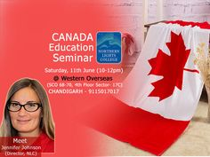 #Canada on-spot Education Seminar for Northern Lights College (NLC) Get one-to-one counselling by Ms. #Jennifer Johnson (Director of International Education, NLC) Saturday, 11th June (10-12pm) @Western Overseas, SCO 68-70, 4th Floor, Sector 17C, #Chandigarh For details, call at 9115017017