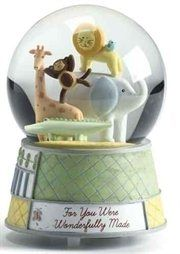 Wonderfully Made Musical Baby Animal Nursery Glitterdome