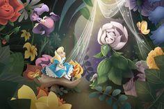 Golden Afternoon Alice in Wonderland-inspired Art Print Alice In Wonderland Flowers, Alice In Wonderland 1951, Adventures In Wonderland, Disney Love, Disney Magic, Disney Art, Disney Stuff, Disney Pixar, Walt Disney