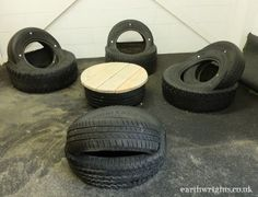 A huge collection of ideas and inspiration for reusing tyres in outdoor play creatively & safely. Save money on outdoor play equipment by upcycling! Project & safety tips included for early childhood educators and teachers. Kids Outdoor Play, Outdoor Play Areas, Backyard Play, Kids Play Area, Backyard For Kids, Outdoor Fun, Tire Seats, Tire Chairs, Tire Furniture