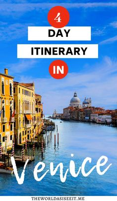 4 days in Venice & Why You Need More than One Day ⋆ The World As I See It - Traveling to Italy and planning to visit Venice? Here is the perfect Venice itinerary including wha - Italy Places To Visit, Things To Do In Italy, Visit Italy, Italy Travel Tips, Europe Travel Guide, Travel Destinations, Budget Travel, Travel Ideas, Travel Advice