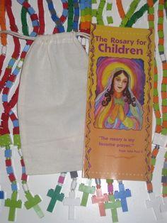 Rainbow Catholic Rosary First Comunion Gift Boy or by MementoMoose on Etsy