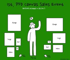1st, PFD Canvas Sales Event_poster
