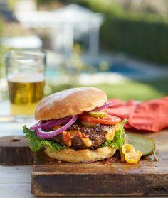 Pimento Cheese-Stuffed Burgers | Labor Day Barbecue