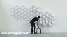 HEXI designed by Thibaut Sld., is a responsive wall made from 60 moving modules, HEXI is a responsive wall. Its fluctuating surface tries to interpret our movements. Vacuum formed tiles - machined aluminium and PVC - servomotors - depth camera.  www.facebook.com/amazingarchitecture ✔️ #amazingarchitecture  #architecture  Telegram.me/amazingarchitecture ✔️ #design  #contemporary  #architecten #nofilter #architect #arquitectura  #iphoneonly #instaarchitecture #love #Architektur  #architecture…