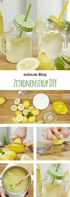 Frischen Zitronensirup  selber machen. Geht ganz einfach und schnell! Das Highlight auf jeder Gartenparty! lemon, DIY