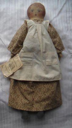 Primitive Antique Folk Cloth Country Doll by Charmaine Talbott 1991 | eBay