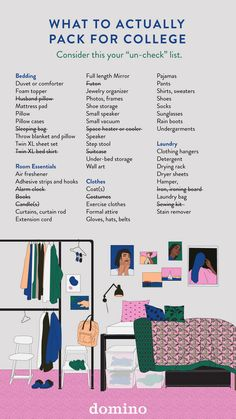 College Checklist 2018 - What You Need - Dorm Room Hacks Ideas College Dorm List, College Dorm Checklist, College Packing Lists, College Dorm Essentials, College Life Hacks, College Planning, College Dorm Rooms, Room Essentials, College Hacks