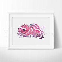 Cheshire Cat Alice in Wonderland Nursery Art Print Wall Decor