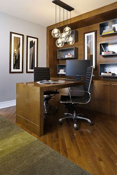 Built In Desk And Floating Shelves In Contemporary Home Office . Home Office Space, Office Workspace, Home Office Design, Office Designs, Desktop Design, Office Desktop, Built In Desk, Built Ins, Study Office