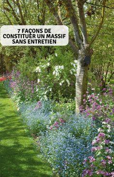 7 Ways to Build a Maintenance Free Mass - Garten - Garden - Jardinería Garden Types, Back Gardens, Outdoor Gardens, The Secret Garden, Garden Cottage, Garden Borders, Types Of Soil, Shade Plants, Shade Trees