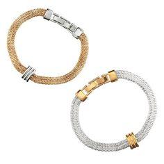 Two-Tone Mesh Bracelet. Get all the best deals on #Avon #Jewelry at www.deannasbeautyonline.com. #bracelet