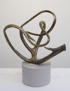 James Prosek, Metamorphosis I, 2012, bronze on limestone base, courtesy of the artist and Waqas Wajahat, New York