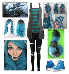 """Modern Female Cheshire Cat (2010 Alice in Wonderland version)"" by shadow-cheshire ❤ liked on Polyvore featuring Miss Selfridge, Wet Seal, Burton, Converse and modern"